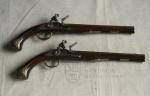 Pár loveckých pistolí s francouzským křesadlovým zámkem, F. Breitenfelder, Karlovy Vary, kolem 1740