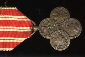 Československý válečný kříž 1914-1918 (VHÚ Praha). Detail.