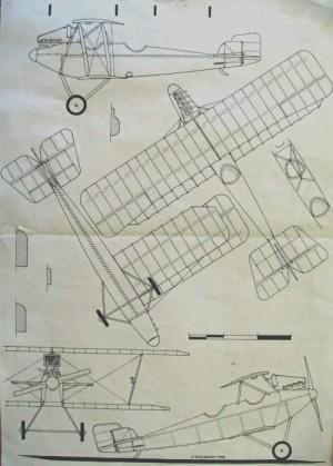 Plánek letounu vypracovaný panem Kolmannem.