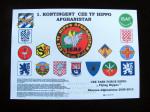 Pamětní list 1. kontingentu HELI UNIT AČR ISAF v Afghánistánu