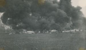Cvičení 34. pěšího pluku čs. legií v Itálii s plamenomety. Foto sbírka VHÚ.