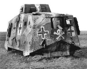 Německý A7V. Foto sbírka VHÚ.