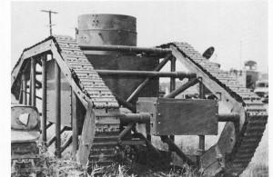 Skeleton Tank - neúspěšný americký prototyp z roku 1918. Foto sbírka VHÚ.