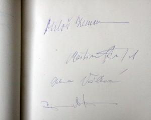 Podpisy prezidenta a ministrů