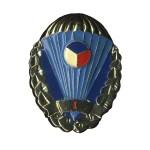 Odznak pro výsadkáře Armády České Republiky stříbřitý I. stupeň