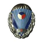 Odznak pro výsadkáře Armády České Republiky stříbřitý II. stupeň