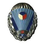 Odznak pro výsadkáře Armády České Republiky stříbřitý III. stupeň