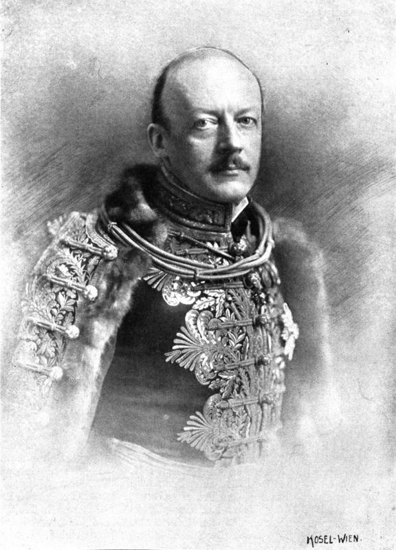 Leopold hrabě Berchtold (1863–1942), c. a k. ministr zahraničí. Foto sbírka VHÚ.