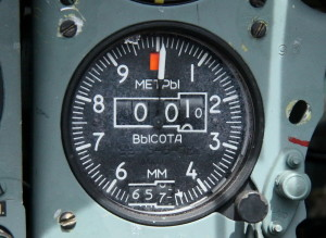 Barometrický výškoměr UV-75-15-PV.