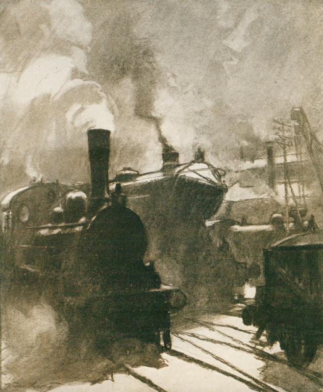 Železnice se stala fenoménem války. Nádraží byla místem, kde mobilizovaní vojáci naposledy spatřili své blízké, kde se rodiče loučili se syny, ženy s muži a děti se svými otci, než je vlaky odvezly na frontu. Foto sbírka VHÚ.