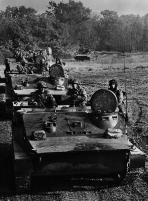 Motostřelci NVA na cvičení. Foto sbírka VHÚ.