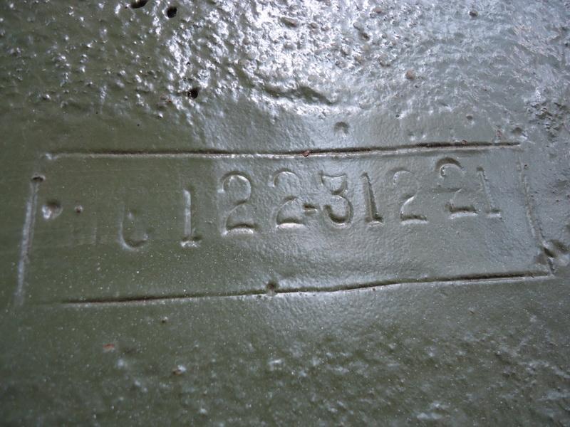 Typové číslo na korbě IS-122