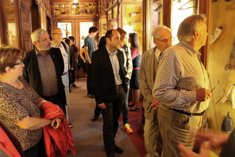 Účastníci konference při návštěvě zámku Konopiště