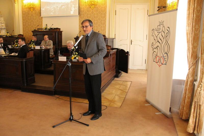 Ministr obrany Martin Stropnický při úvodním projevu na konferenci 1914 - Proměny společnosti a státu ve válce