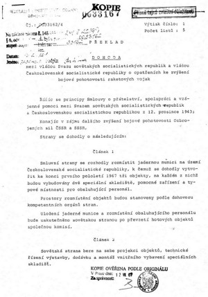 Smlouva z roku 1965 (VÚA Praha)
