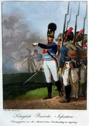 Bavorská pěchota roku 1805.
