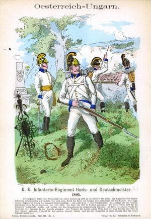 Rakouská pěchota roku 1805.