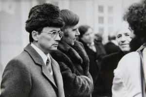 Člen vlády Ján Čarnogurský.   Foto Andrej Halada.