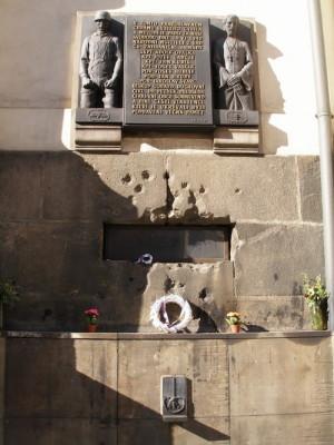 Kostel v Resslově ulici v Praze, místo poslední boje Adolfa Opálky a jeho druhů