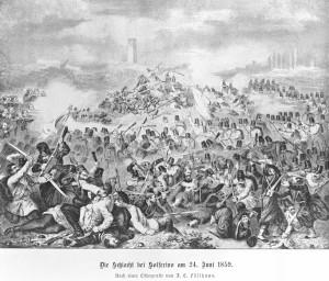 Výjev z bitvy u Solferina