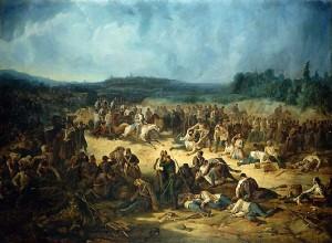 Bojiště u Solferina po bitvě.