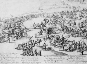 Obléhání města Erkelenz ve válce o Jülich 10. května 1610.