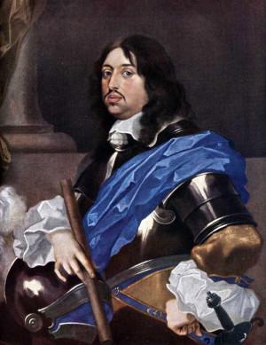 Falckrabě Karl Gustav, zde již jako švédský král Karel X. Gustav (1622-1660)