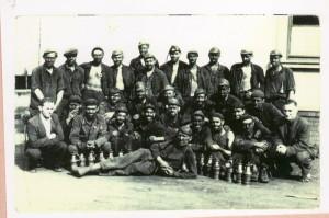 """První """"těžcí pétépáci"""" na dole Barbora. FOTO: foto archiv autora"""