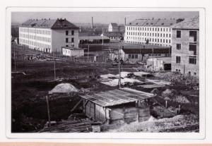 Také sídliště v Dobrušce vybudovali pétépáci. FOTO: archiv autora