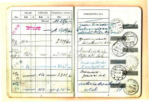 Vkladní knížka pétépáka. FOTO: archiv autora
