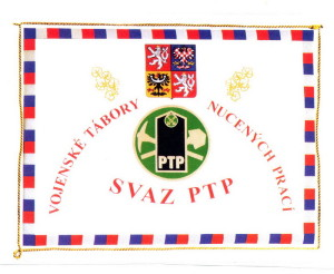 Standarda předsedy Ústřední rady Svazu PTP-VTNP. FOTO: archiv autora