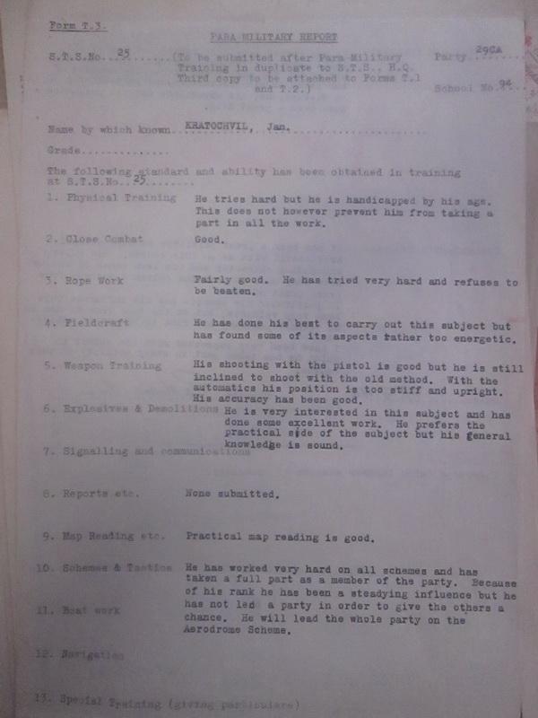 Dobové dokumenty vztahující se k činnosti Jana Kratochvíla
