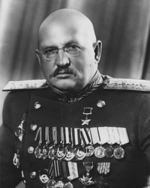 Armádní generál Ivan Jefimovič Petrov, velitel 4. ukrajinského frontu v době 1. fáze Ostravské operace.
