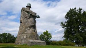 Žižkův pomník u Sudoměře od Emanuela Kodeta byl dostavěn v roce 1925