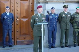 Náčelník Generálního štábu AČR , armádní generál Petr Pavel při úvodním proslovu