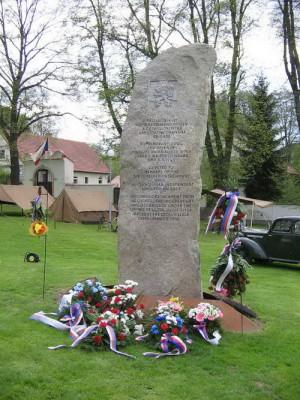 Památník Kombinovanému oddílu v Kyšicích u Plzně