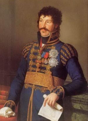 Joachim I. Murat, král neapolský na obraze z roku 1814