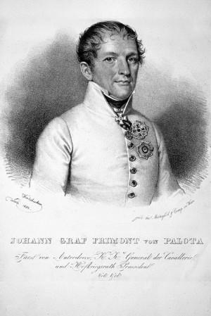 Rakouský generál jezdectva Johann Maria Philipp Frimont svobodný pán von Palota