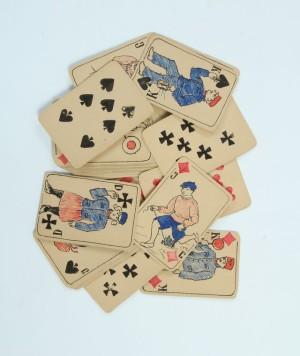 Ručně vyrobené hrací karty italského legionáře