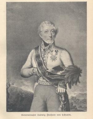 Pražský rodák generálmajor Christoph Ludwig von Eckhardt velel roku 1815 divizi v Bianchiho sboru