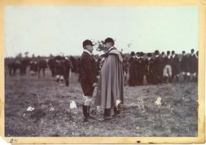 Císař Vilém a Pellé na honu (Foto sbírka VHÚ)