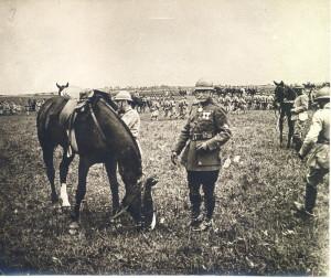 Generál Pellé, velitel V. armádního sboru, 23. květen 1917 (Foto sbírka VHÚ)