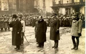 Pellé a Masaryk na Pražském hradě 1. ledna 1920 (Foto sbírka VHÚ)