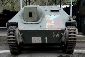 Povstalecké vozidlo z Pražského povstání 1945. Původně německý stíhač tanků Hetzer je nyní ve sbírkách VHÚ Praha. Bude k vidění 4. a 5. května 2015 před Staroměstskou radnici v Praze.