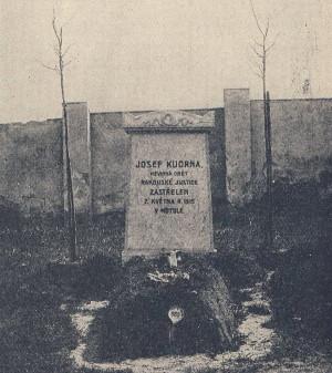 Hrob Josefa Kudrny na Olšanském hřbitově v Praze