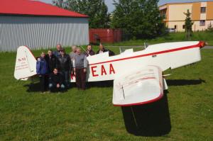 Beta Minor Be-50 po svém první letu. Foto Petr Kolmann.