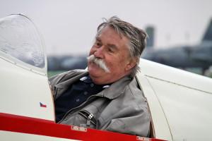 Jan Klaban v letounu Beta Minor Be-50