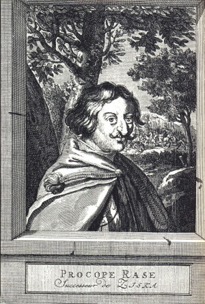 Mědiryt portrétu Prokopa Holého z 18. století