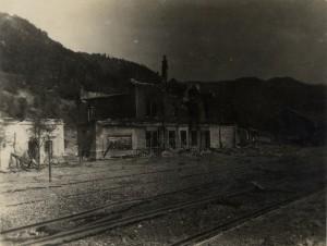 Zničené nádraží v Santa Lucii