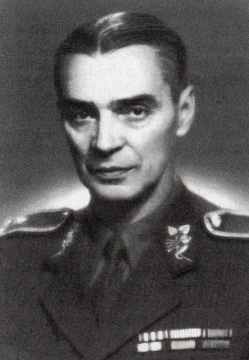 Velitel skupiny Ocel a Teplice generál Jan Heřman
